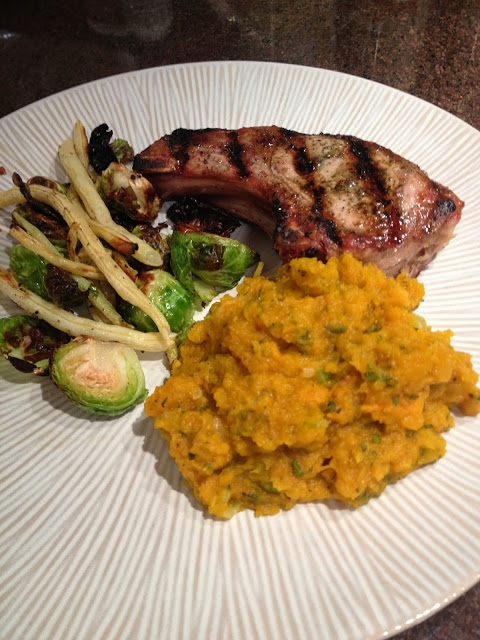 Squash and Pork Chop