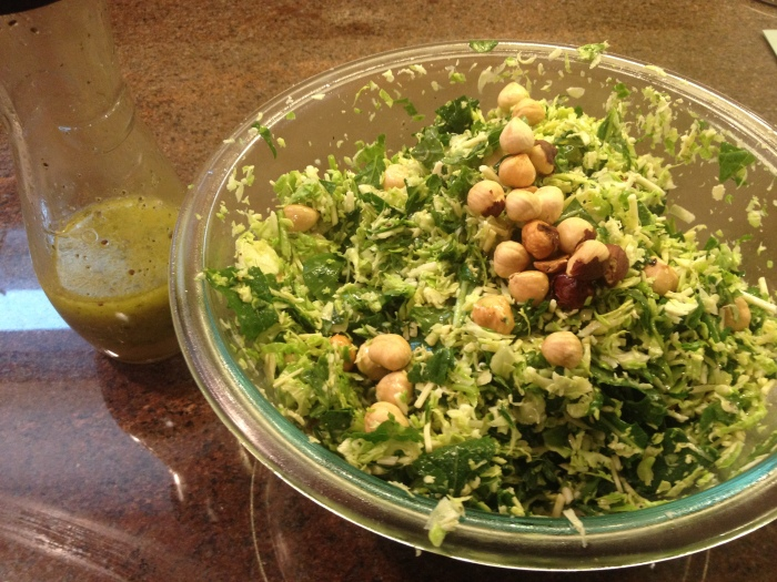 Brussell Sprout Salad With Dressing
