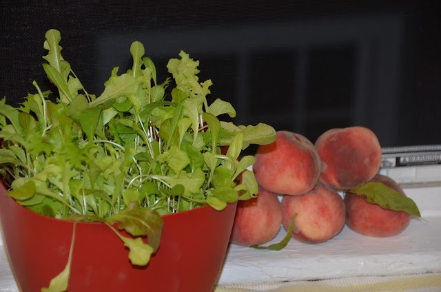 lettuces and peaches